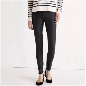 Madewell Faux Leather Coated Skinny Leggings 25